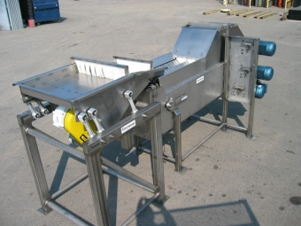 Orientlng equipment for two-lane slicer